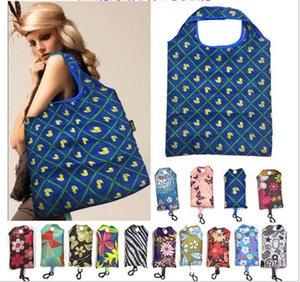 padrão Folding saco de compras Home Storage Organização Bag Recycle Armazenamento Bolsas Floral Recycle Shopping Bag BBA6