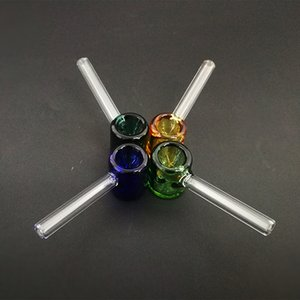 классический стекло масло горелка трубы молоток образный курительная трубка 3.26 дюймов мини стеклянные трубы прямая трубка многоцветный выбор
