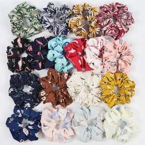 Elasticity Scrunchies New Ponytail Holder Hairband Hair Rope Tie Fashion Plaid Hair Rings for Women Girls Hair Accessories