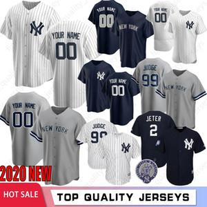 Uomini Aaron Giudice Derek Jeter 2020 Baseball maglie Stanton Gerrit Cole Gary Sanchez ricamo Gleyber Torres Rivera bassa fredda M-XXXL