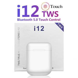 I12 TWS Bluetooth 5.0 casque avec micro-casque sans fil Bluetooth tactile de sept couleurs casque sans fil chaud vente earplug, le transport DHL