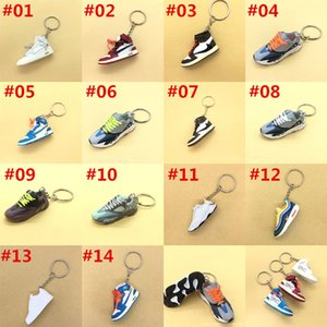 DHL Keychain Key Ring Accessories Charms Sneaker Shoes 3D Mobile Phone Strap Lanyard Basketball Shoes Model Popular Gift Pendant