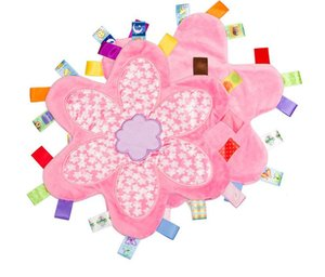 Baby beruhigend Handtuch Babymädchen Plüsch beruhigende Sicherheit von Spielzeug Decke neugeborenes Baby Blume weiches Handtuch Pflegeprodukte DA313