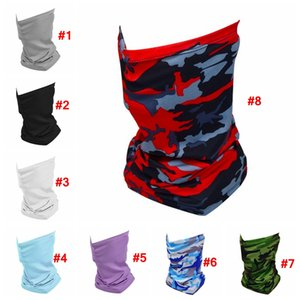 Camo Magic Scarf Outdoor camouflage Tube Neck Face Mask Cover Sport Fishing cycling face mask Hiking Bandana Protective Masks LJJA4084