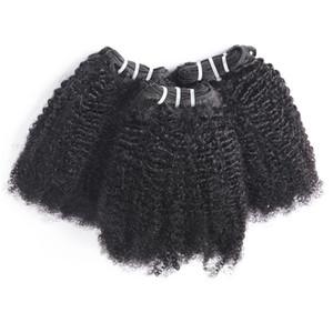 Perulu Kıvırcık Saç Afro Kinky Kıvırcık 3 Demetleri Fırsatlar 8A Işlenmemiş Hint Saç Afro Dalga Kıvırcık Brezilyalı Bakire Saç Demetleri