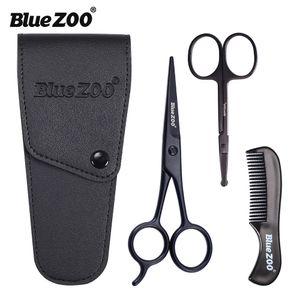 Black Series Tesoura Set Bigode Combs Hair Clipper Barba Homens Conjunto de Cuidados de Alta Qualidade Para O Transporte Livre