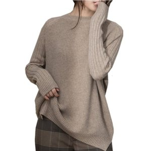 Twist Lazy Pulver Loosen Women's Thick Shirt with Round Sleeve Neck for New Wool Sweaters in 2019