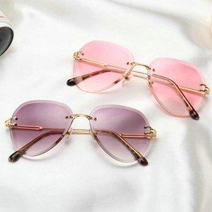 Красочные Градиентные солнцезащитные очки Rand Крупногабаритные для мужчин Красочные Gradient солнцезащитные очки объектива Big Frame солнцезащитные очки Женщины металлический каркас Hot