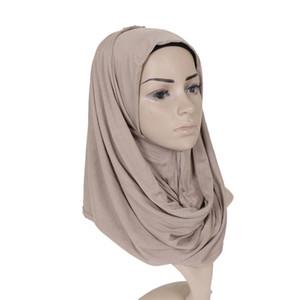 Alta calidad musulmán hijab bufanda de algodón jersey Hijabs musulmán turbante Hijab Infiity bufanda musulmanes vestidos de cabeza Bandana mujeres