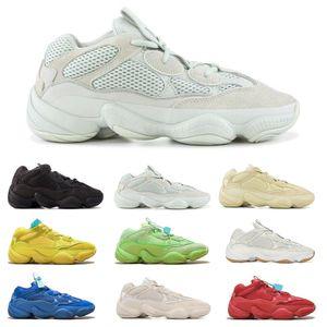 Hot 500s Kanye West Men Women Running Shoes Sneakers Utility Black Shadow Salt Bone Blush Stone Desert Rat Wave Runner Trainers Shoes