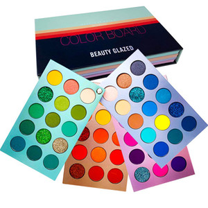 Schönheit Verglaste 60 Farben Lidschatten-Palette Farbe Brett Make-up-Palette Lidschatten NUDE Schimmer matte Glitzern Natural High pigmentierte Kosmetik