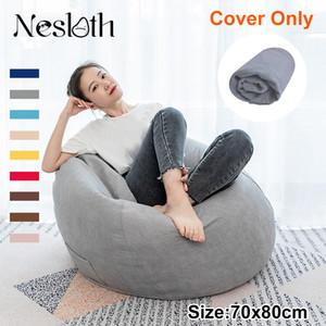 Nesloth preguiçoso Beanbag Sofá Cadeira sem enchimento Veludo Espreguiçadeira Assento Bean Saco Puff Sofá Tatami Sala de estar 70x80cm Novo T200601