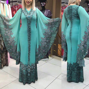 MD Womens African Plus Size Dresses Dashiki Printing Loose Maxi Dress Lady Costumes Blue Evening Dress Vetement Femme 2020 Robes