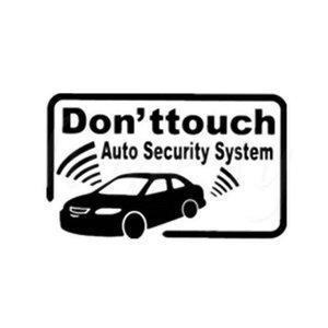 17,9 * 11,1 cm Auto Alarmanlage Warnung seufzt Auto Styling Motorrad Aufkleber SCHWARZ / SILBER CA496