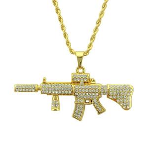 Zosedjewelry мода прохладный AK47 пистолет ожерелье Европейский хип-хоп ювелирные изделия из нержавеющей стали цепи