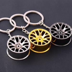 Moyeu de roue en métal Porte-clés Auto Sports roue de voiture Porte-clés KeyChain Pendentif bijoux en argent de mode d'or Sac Hangs DROP SHIP