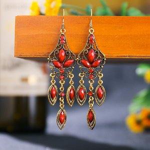 New personality big name texture hollow long earrings diamond earrings explosion accessories
