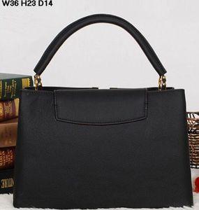 LUXE hotsale CAPUCINES MM nouvelle marque en cuir véritable peau de veau des femmes de qualité supérieure FAVORITE épaule sac à main sac fourre-tout ARTSY grand sac à main