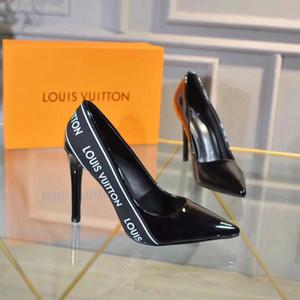 Le signore casuali di modo di alta qualità le scarpe classiche selvagge semplici scarpe di lusso shopping partito scarpe con il tacco alto moda banchetto