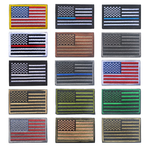 US Drapeau Morale Patchs Uniforme American Drapeau Patchs Fer sur Patch de l'armée Patch Applique Autocollant Patchs pour Badge Badge Broderie Autocollant Magic