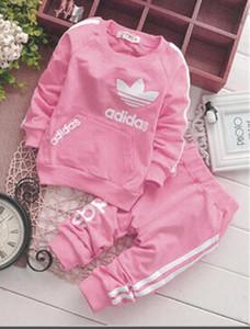 2019 venda quente marca bebê fatos de treino primavera outono baby boy girl algodão completo sleeved jaqueta + calça 2 pçs / sets meninos kid clothing set conjunto de bebê