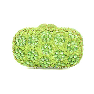 XIYUAN Luxury Fashion Hollowing Out flower evening bags Handmade Diamond Evening Bag Wedding Bride small Clutch purse for party