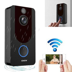 V7 Standard Edition 1080P Full HD Weather Resistant WiFi Security Home Monitor Intercom Smart Phone Video Doorbell, Support Two-way Audio, P