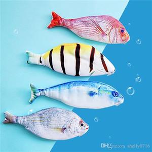 Neuheit-Fisch-Form-Bleistift-Kasten Schulbedarf Seefische Bleistift Taschen Studenten Briefpapier Kinder Stiftradierer Lineal Container Box