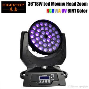 Gigertop TP-L622A Zoom Led Moving Head Light 36x18W 6in1 RGBWA + UV DJ DMX luce della lavata di buona qualità LED display 15-60 gradi Zoom