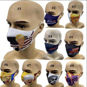 Trump 2020 Maschere elezioni americane anti polvere antivento 3D Stampato esterna lavabile Mask Designer LJJA4030