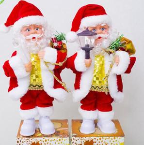 Noel Elektrik Müzik Noel Baba Doll Oyuncak Noel Plastik Bebekler Parti Noel lamba Mum Dekorasyon Hediyelik 2styles GGA2802