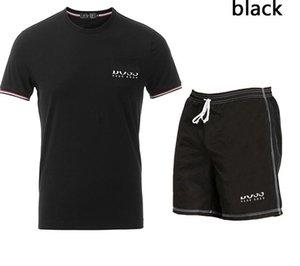 New 2020 Summer tracksuit Set Running mens tracksuit Letter Slim Clothing Track Kit Luxury Sports Short sleeve Suit