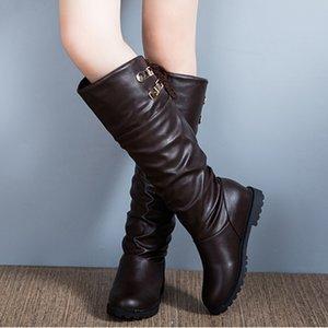 Hot Sale-Fashion kniehohe Stiefel Frauen Weichleder Stiefel Bequeme Frauen Lange Schuhe scarpe donna estive comode