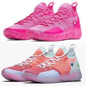 XYT New KD 11 EP White Orange Foam Pink Paranoid Oreo ICE Basketball Shoes Original Kevin Durant XI KD11 Mens Trainers Sneakers Size 7-12