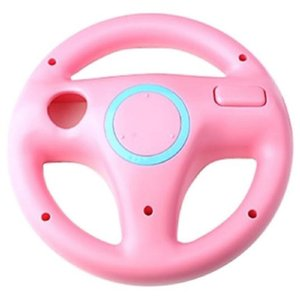 Hot Sale New Fashion Steering Wheel For Nintendo Wii Remote Controller Racing Games Pink