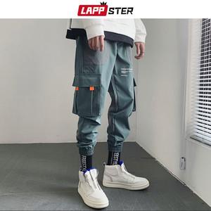 LAPPSTER Hip Hop Joggers calças homens 2020 Homens Calças de Streetwear Japonês Calças Harém Masculino Calças Casuais pretas calças de Moda Calças T200416