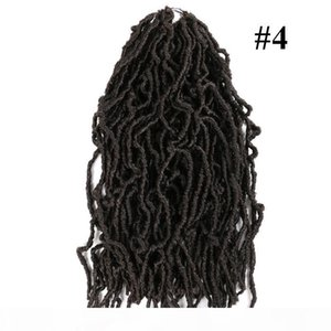 L Synthetic Braiding Hair Crochet Nu Locs Curly Faux Locs 18inch Ombre Color Dreadlocs Synthetic Braids Hair Extensions