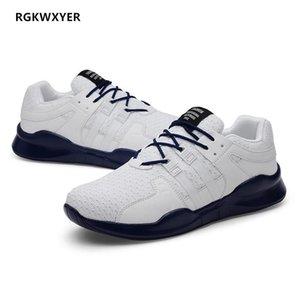 RGKWXYER neue große Größe 48 Schuhe Herren Sneakers Leichte atmungsaktive Mann-beiläufige Schuh-Frühlings-Sommer-Mode Lace-Up Arbeits