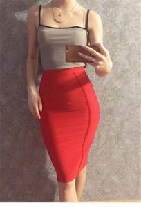 Womens Designer Fashion Skirts Solid Color Printed High Waist Zipper Knee Length Hip Skirts Sexy Womens Clothing