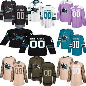 2019 Noticias de San Jose Sharks jerseys del hockey de múltiples estilos para hombre de encargo cualquier nombre cualquier número de los jerseys del hockey