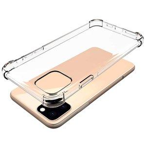 goophone 11 프로 최대 패션 충격 방지 범퍼 투명 실리콘 전화 케이스 아이폰 (11) 11Pro 11Pro 최대 지우기 보호 뒷 표지