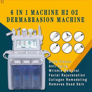 2020 متعددة الوظائف هيدرا الوجه آلة الجمال 6in1 أكوا المائية المياه جلدي الأكسجين جت التقشير RF BIO بالموجات فوق الصوتية الجلد المعدات الطبية