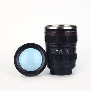 400 ml Edelstahl Kameraobjektiv Becher Mit Deckel Neue Fantastische Kaffeetassen Teetasse Neuheit Geschenke Tassen Drink EEA535