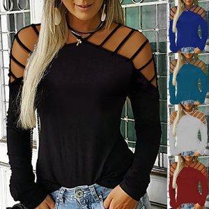 2019 Solide Couleur européen de printemps et d'automne Fashion Explosion à manches longues Sexy Tube Top T-Shirt Femme, Lot de soutien mixte