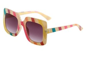 New boxy sunglasses 0328 catwalk multi-colour glasses network hot style sunglasses