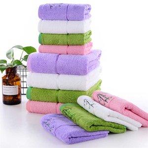 Engrossado 120g toalha moderna sólida de fibra de bambu cor bordados toalha adulto banheiro rosto macio e absorvente pode ser personalizado