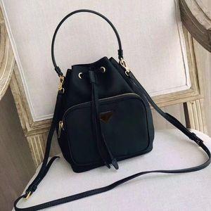 Bolsa con cordón Bolsa con cordón impermeable Lienzo cubo señora bolsa de mensajero monedero de la moda bolso de la cadena bolso bandolera bolso