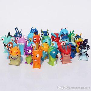 ht 24pcs set Free Shipping Cartoon Mini Slugterra PVC Action Figures Toys Model Dolls For Children