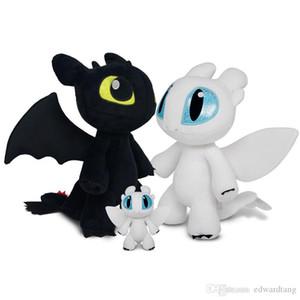 Zähmen Drachen zahnlos Plüsch-Spielzeug, Light Night Fury gefüllte Puppe, Cartoon Ornament, Party Kind Geburtstag Weihnachtsgeschenk, Decotation