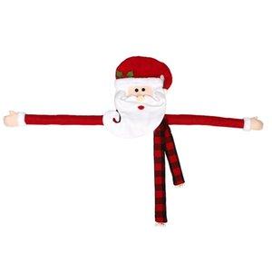 Christmas Tree Top Star Santa Claus, Christmas Tree Top Decoración, Sombrero decoración, ropa de Santa Claus bufanda